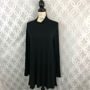 Cable & Gauge Black Mock Turtleneck Dress